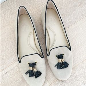 C. Wonder Tassel Suede Loafers